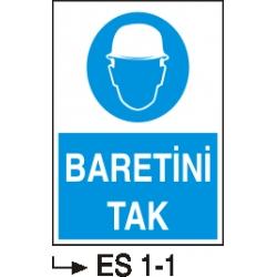 Baret Levhaları - Baretini Tak Levhası B001