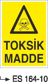 Zehirli Madde Levhaları - Toksik Madde Es 164-10