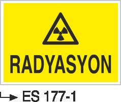 Radyasyon Uyarı Levhaları - Radyasyon Es 177-1