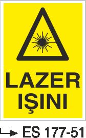 Radyasyon Uyarı Levhaları - Lazer Işını Es 177-51