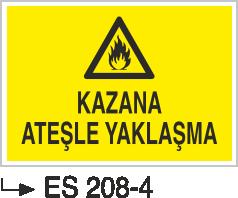 Kısımlar Levhası - Kazana Ateşle Yaklaşma  Es 208-4