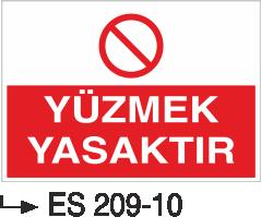 Havuz Uyarı Levhaları - Yüzmek Yasaktır Es 209-10