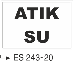 Atık Alanı Levhaları - Atık Su ES 243-20