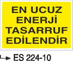 Tasarruf Levhaları - En Ucuz Enerji Tasarruf Edilendir ES 224-10