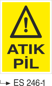 Atık Alanı Levhaları - Atık Pil Es-246-1