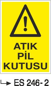 Atık Alanı Levhaları - Atık Pil Kutusu Es-246-2