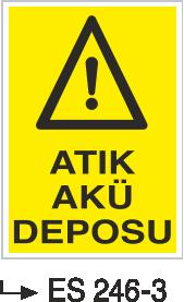 Atık Alanı Levhaları - Atık Akü Deposu Es-246-3