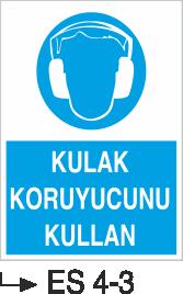 Kulak Koruma Levhaları - Kulak Koruyucunu Kullan Es 4-3
