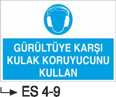 Kulak Koruma Levhaları - Gürültüye Karşı Kulak Koruyucunu Kullan Es 4-9