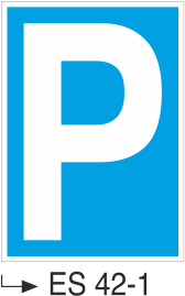 Park Levhaları - Park Levhası Es 42-1