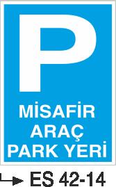 Park Levhaları - Misafir Araç Park Yeri Es 42-14
