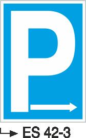 Park Levhaları - Park Yeri Es 42-3