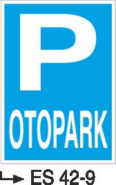 Park Levhaları - Otopark Es 42-9