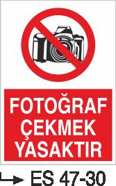 Cep Telefonu Levhaları - Fotoğraf Çekmek Yasaktır Es 47-30
