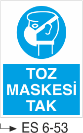 Solunum ve Maske Levhaları - Toz Maskesi Tak Es 6-53