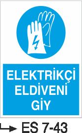 El Koruma ve Eldiven Levhaları - Elektrikçi Eldiveni Giy Es 7-43