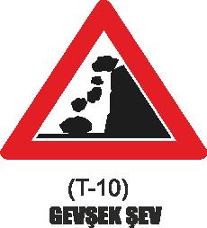 Trafik Tabelaları - Gevşek Şev Tabelası T-10