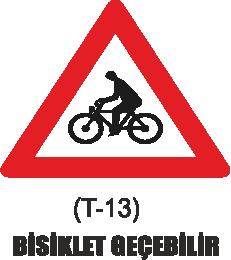 Trafik Tabelaları - Bisiklet Geçebilir Tabelası