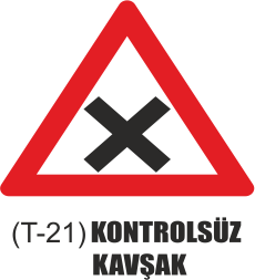 Trafik Tabelaları - Kontrolsüz Kavşak Tabelası T-21