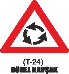 Trafik Tabelaları - Dönel Kavşak Tabelası T-24