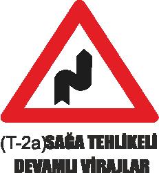 Trafik Tabelaları - Sağa Tehlikeli Devamlı Viraj Tabelası T-2a