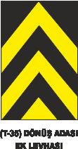Trafik Tabelaları - Dönüş Adası EK levhası