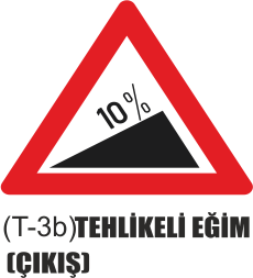 Trafik Tabelaları - Tehlikeli Eğim (Çıkış) Tabelası T-3a