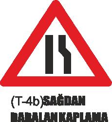Trafik Tabelaları - Sağdan Daralan Kaplama Tabelası