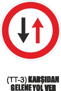 Trafik Tabelaları - Karşıdan Gelene Yol Ver Tabelası TT-3