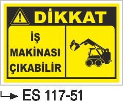 İş Makinası Levhaları - İş Makinası Çıkabilir Es 117-51