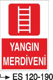 Fotolümenli Uyarı Levhaları - Yangın Merdiveni ES 120-190