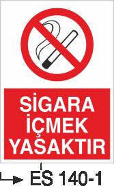 Sigara İkaz Uyarı Levhaları - Sigara İçmek Yasaktır Es 140-1