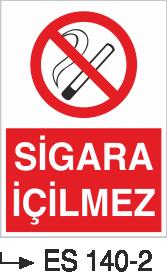 Sigara İkaz Uyarı Levhaları - Sigara İçilmez Es 140-2