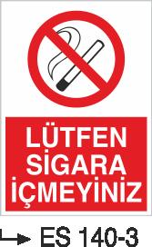 Sigara İkaz Uyarı Levhaları - Lütfen Sigara İçmeyiniz Es 140-3