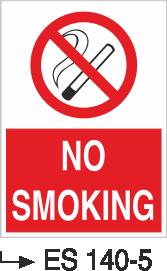 Sigara İkaz Uyarı Levhaları - No Smokıng Es 140-5