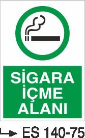 Sigara İkaz Uyarı Levhaları - Sigara İçme Alanı