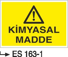 Kimyasal Madde Levhaları - Kimyasal Madde Es 163-1