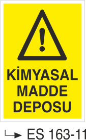 Kimyasal Madde Levhaları - Kimyasal Madde Deposu Es 163-11