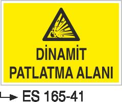 Patlayıcı Madde Levhaları - Dinamit Patlama Alanı Es 165-41