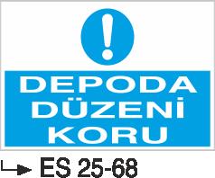 İstif Uyarı Levhaları - Depoda Düzeni Koru Es 25-68
