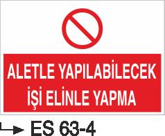 Alet ve Malzeme Levhaları - Aletle Yapılabilecek İşi Elinle Yapma ES 63-4