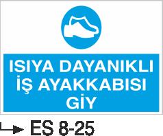 Ayak Koruma Levhaları - Isıya Dayanıklı İş Ayakkabısı Giy Es 8-25