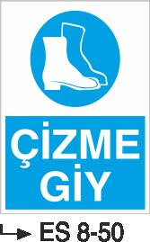 Ayak Koruma Levhaları - Çİzme Giy Es 8-50