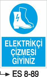 Ayak Koruma Levhaları - Elektrikçi Çizmesi Giyiniz Es 8-89