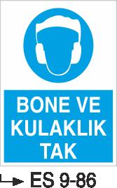 İş Elbise ve Kıyafeti Levhaları - Bone ve Kulaklık Tak Es 9-86