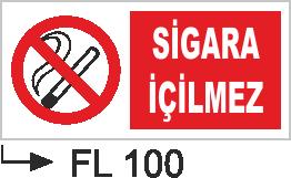 Acil Çıkış Yönlendirme Levhaları - Sigara İçilmez Fl 100