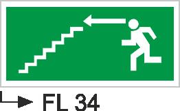 Acil Çıkış Yönlendirme Levhaları - Fl 34 Fl 34