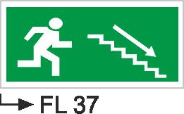 Acil Çıkış Yönlendirme Levhaları - Fl 37 Fl 37
