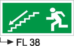 Acil Çıkış Yönlendirme Levhaları - Fl 38 Fl 38