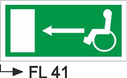 Acil Çıkış Yönlendirme Levhaları - Fl 41 Fl 41